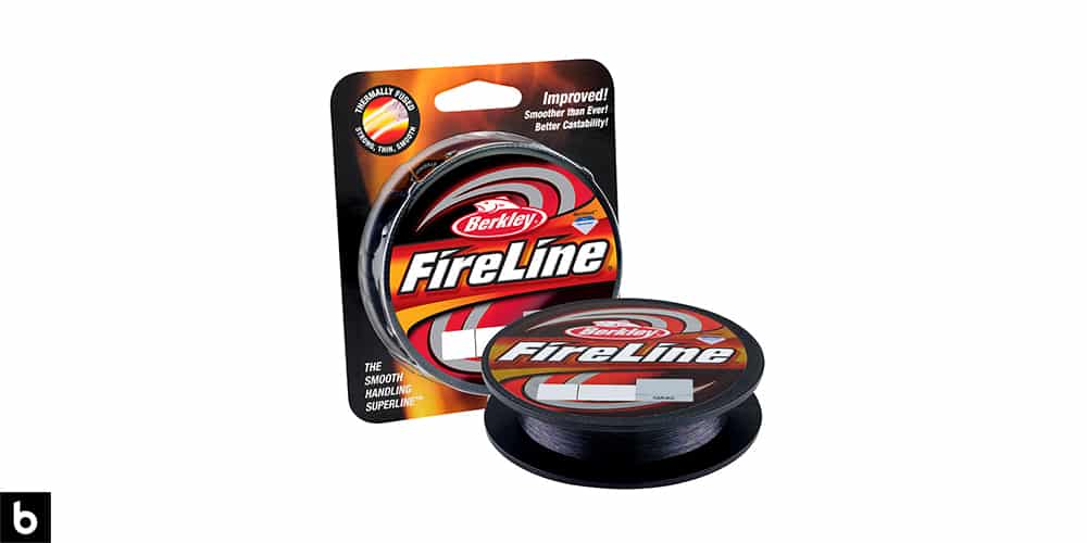 This is a product image, featuring a spool of Berkley Fireline fishing line.